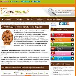 Les aliments riches en protéine et pauvres en calorie