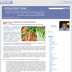 Aliments bio : La question de la sécurité sanitaire