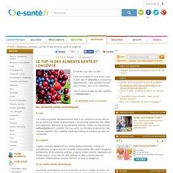 Aliments santé et aliments longévité