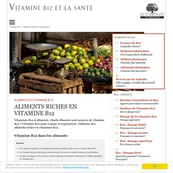 Aliments riches en vitamine B12