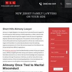 Short Hills Alimony Lawyer