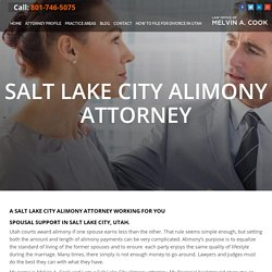 Salt Lake City Alimony Lawyer