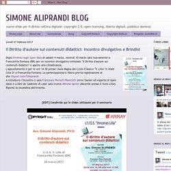 SIMONE ALIPRANDI BLOG: Il Diritto d'autore sui contenuti didattici: incontro divulgativo a Brindisi