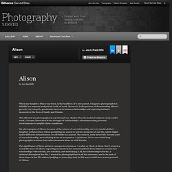 Alison on Photography Served