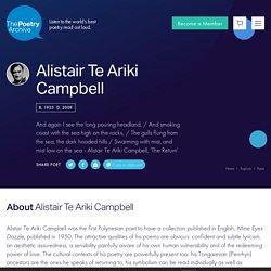 Alistair Te Ariki Campbell - Poetry Archive
