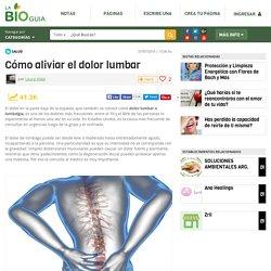 Cómo aliviar el dolor lumbar - Notas - La Bioguía