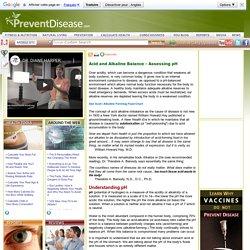 Acid and Alkaline Balance - Assessing pH