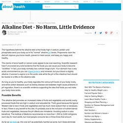 Alkaline Diet - No Harm, No Evidence