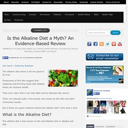 Is the Alkaline Diet a Myth? An Evidence-Based Review