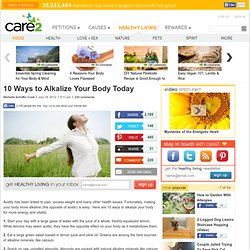 10 Ways to Alkalize Your Body Today