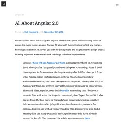All About Angular 2.0