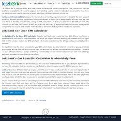 All About Car Loan EMI Calculator