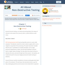 What is Non-Destructive Testing ?