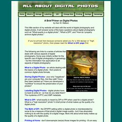 All About Digital Photos