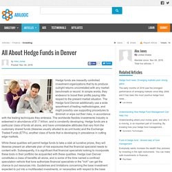 All About Hedge Funds in Denver