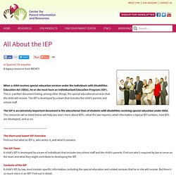All About the IEP