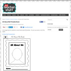 All About Me Printable Book
