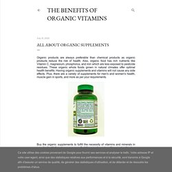All about Organic Supplements