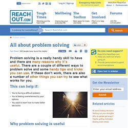 All about problem solving