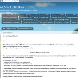 All About PTC Sites: How to Make a PTC site?
