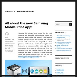 All about the new Samsung Mobile Print App!