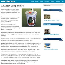 All About Sump Pumps | DIY In A Hour.com