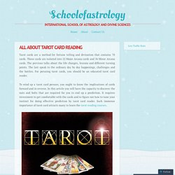 All About Tarot Card Reading