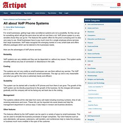 All About VoIP Phone Systems