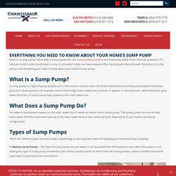 EVERYTHING YOU NEED TO KNOW ABOUT YOUR HOME'S SUMP PUMP