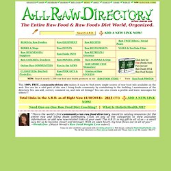 All Raw Directory: Raw Food and Raw Foods Diet Directory