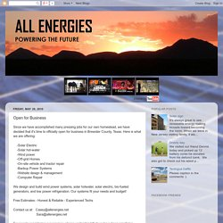 All Energies: Open for Business