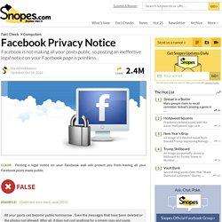 Facebook Privacy Notice