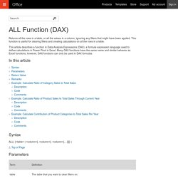 ALL Function (DAX) - Office Support