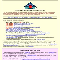 ALL-IN-ONE HOMESCHOOL RESOURCE CENTER