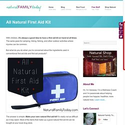 All Natural First Aid Kit - Natural Family Today