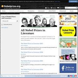 All Nobel Prizes in Literature