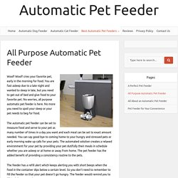 All Purpose Automatic Pet Feeder