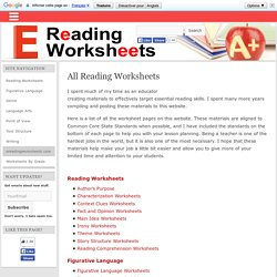 All Reading Worksheets