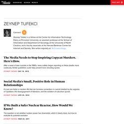 All Stories by Zeynep Tufekci