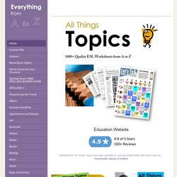 All Things Topics - Home