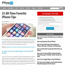 25 All-Time Favorite iPhone Tips