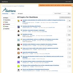 All topics for Dashlane