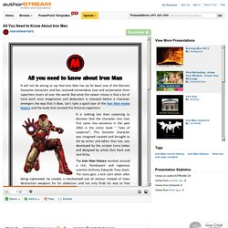 All You Need to Know about Iron Man
