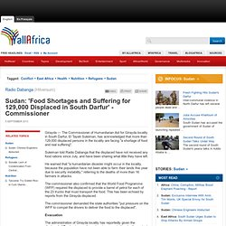 Sudan: 'Food Shortages and Suffering for 129,000 Displaced in South Darfur' - Commissioner
