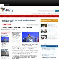 Deutsche Bank Lauds Zambia - allAfrica.com