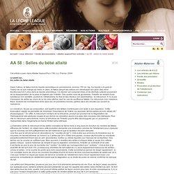 AA 58 : Selles du bébé allaité