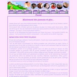 L'art de l'allaitement maternel - Presse - Allaitement des jumeaux et plus...