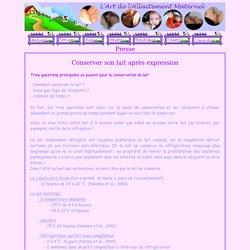 L'art de l'allaitement maternel - Presse -
