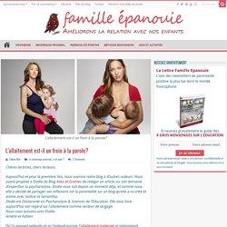 L'allaitement maternel comme vecteur de langage et de la parole