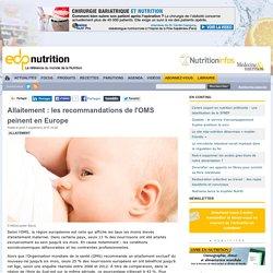 Allaitement : les recommandations de l'OMS peinent en Europe